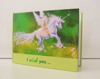 "Angel book ""I wish you ..."" - ideal gift for birthday and more- designed by artist and only on Etsy available. Angel photos + best wishes"