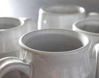 White Coffee Mug // Pottery Tea Cup // Large Ceramic Mug