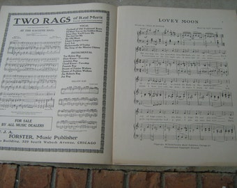 1912 sheet music (   lovey moon   )