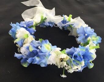 BLISS - Blue & White Flower Crown