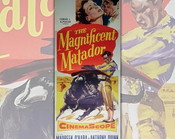 Original Insert Movie Poster The Magnificent Matador - Size 91,5x35,7 CM - 1955
