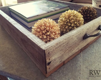 Rustic Ottoman Tray Top  - 100% Reclaimed Wood