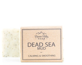 Dead Sea Mud Soap,Soap for Sensitive Skin and Psoriasis,Dead Sea Soap, Detox Soap, Clay Soap, Cold Process Soap, Unscented Soap, Vegan Soap