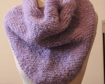 Fuzzy Purple Knit Wrap