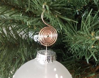 Rose Gold Christmas Ornament Hooks - 1 dozen