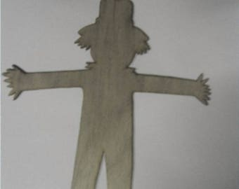 Scarecrow (Large ) Wood Cut Out -  Laser Cut
