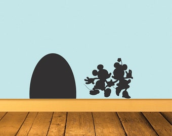Mouse Wall Decal Mice Wallpaper Sticker Cute Mouse Wall Art Cute Mouse Bedroom Mural  Mouse Wall Vinyl, Mouse Home Wall Decal Stickers, a77
