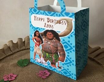 Costumized Moana Party Favor Gift Bag 12Ct, Moana Party, Moana Birthday, Moana Loot Bags, Moana Decorations.