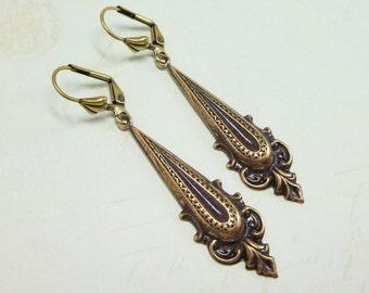 Art Deco Earrings Bohemian Earrings Long Ear Dangles