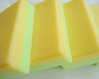 Lemon Lime Soap For Men, Green and Yellow Soap, Homemade Soap, Bar Soap, Shea Butter Soap, Citrus Soap