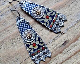 Recycled  tin earrings    *3