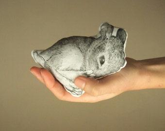 easter bunny plush cute rabbit soft toy white bunny home decor black and white animal mini pillow