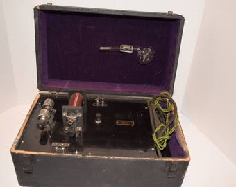 """Antique 1920""""s """"Beadon-Dun"""" VIOLET RAY Ultraviolet Therapy Quack Medical Device"""