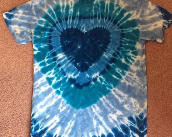 M Tie Dyed Heart Tee