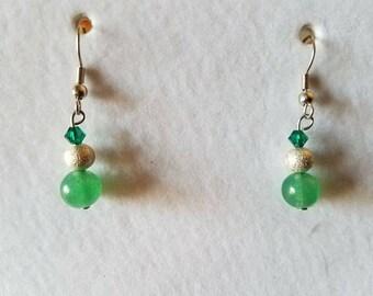 Green Aventurine Dangle Earring