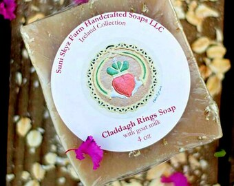 Claddagh Rings Soap - Irish Soap - Ireland Collection - Spa Soap - Goat Milk Soap - Natural Soap - Handmade Soap - Suni Skyz Farm Soap