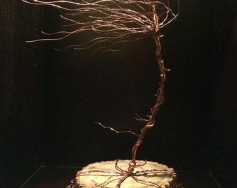 Copper Tree Sculpture - Windswept