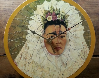 Frida Kahlo (Diego on my Mind) Wall Clock