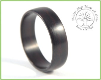 Wood Ring, Wooden Ring, Wood Wedding Ring, Wedding Ring, Mens Wood Ring, Men's Ring, ebony wood  Ring, Ebony Ring, Wedding Band Men, Wedding