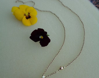 Gold chain 585 m. Funkel Pearl, Tahitian Pearl