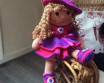 Gothic crochet doll