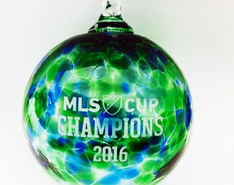 MLS Cup Champions! Special Edition - Seattle Sounders Blown Glass Ornament