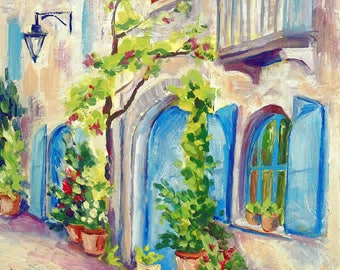 Village Street (Blue Doors)