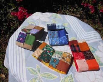 Patchwork Fabric Bracelets
