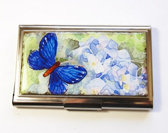 Business Card Case, Butterfly card case, Card case, business card holder, Butterfly, card case for her (2935)