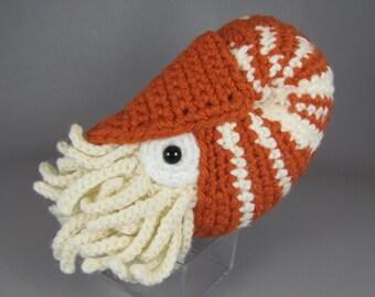 Chambered Nautilus - PDF amigurumi crochet pattern