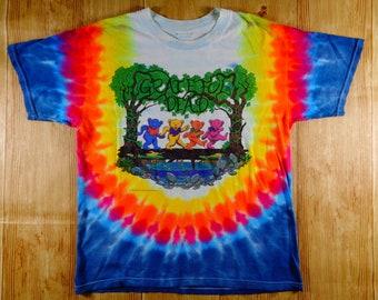 ON SALE Vintage 1997 Grateful Dead Tie Dye TShirt Rare