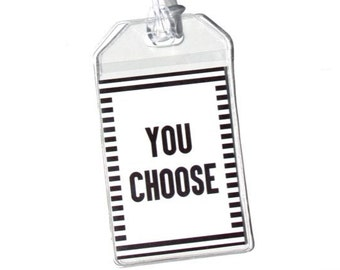 1 Luggage Tag - You Choose the Print or Pattern. Bag Tag. Baggage Tag. Suitcase Tag. Identification.