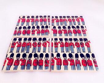 Set of 4 Cath kidston soldiers ceramic coasters