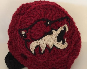 Baby Coyote Helmet, NHL Coyotes baby Shower, Arizona Coyote