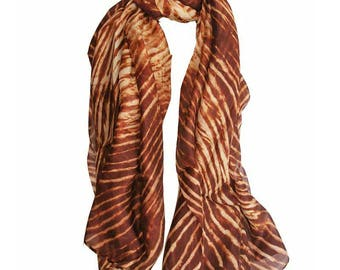 Silk soft and satiny soft scarf-shawl