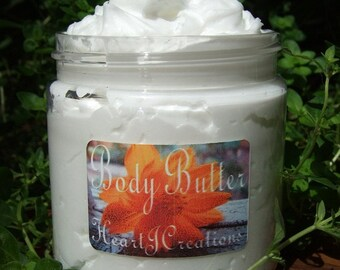 BODY BUTTER with Cocoa Butter - Shea Butter - You Pick your Scent You Want to Create