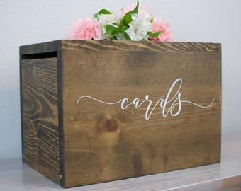 Wedding baskets boxes etsy wedding card box with lock wedding card box wedding money box rustic wedding solutioingenieria Images
