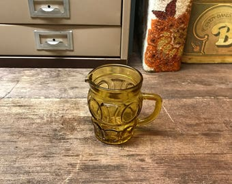 Vintage Creamer Amber Gass Orange Glass Kitchen Serving