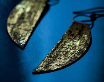 Gold Gilded Copper Earrings