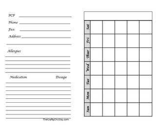 Anxiety/Insert For Your Traveler's Notebook - Micro  digital download Printable