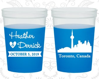 Canada Wedding, Personalized Mood Cups, Destination Wedding, Blue Mood Cups, Toronto Wedding (165)