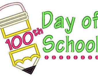 100th Day of School Pencil Applique Shirt or Bodysuit Boy or Girl