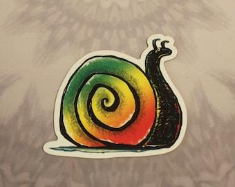Rasta Snail Outdoor Magnet
