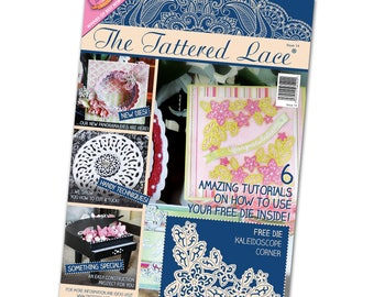 TATTERED LACE MAGAZINEs #14 EDiTION !!! Free Die, Papers, Tutorials - Rare !