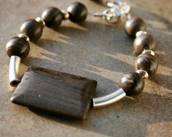 VELVET MOON Agate and Sterling Bracelet