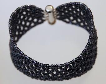 Two-tone Purple Netted Bracelet