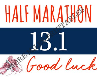 Half Marathon Good Luck Card