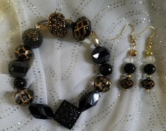 Spider Webs Bracelet and Earring Set