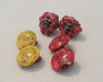 Vintage Venetian Murano Glass Earrings