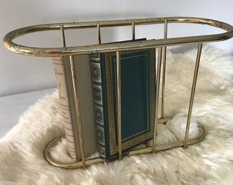 gorgeous brass magazine rack organizer